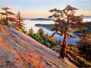 Overlook Point, 12in x 16 in, oil on canvas
